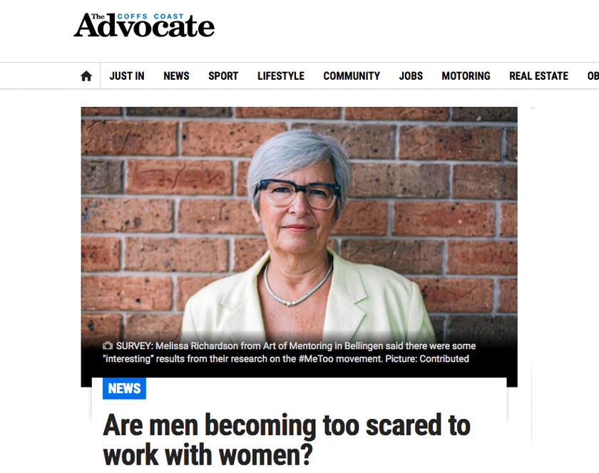 Screenshot of Coffs Advocate article from 2018