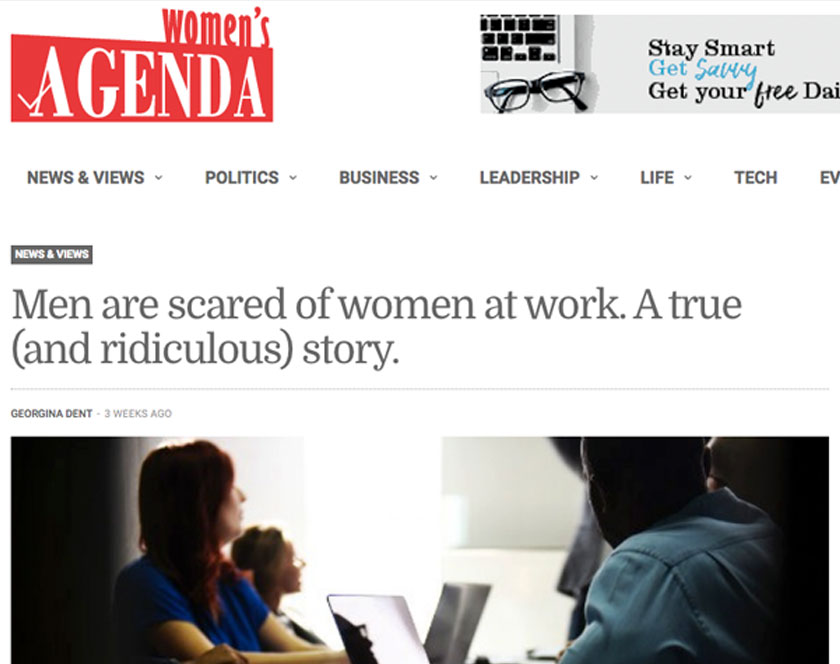 Screenshot of Womens Agenda article from 2018