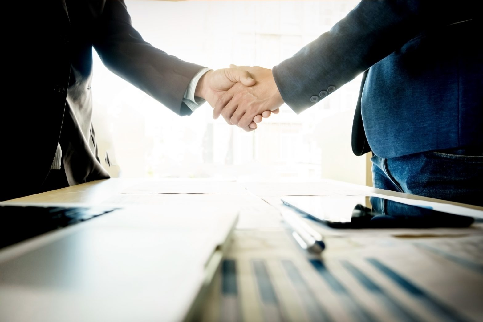 mentoring facilitate acquisition shaking hands