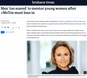 Men 'too scared' to mentor young women after #MeToo must lean in