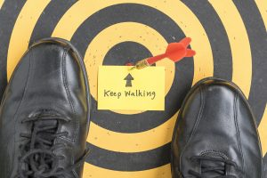 Dartboard targetting the correct career advice