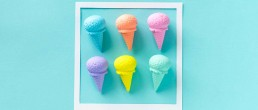 Manager intervention options represented as different coloured ice cream cones