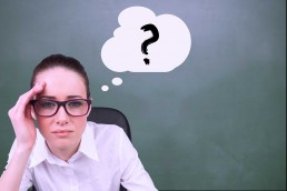 how to manage uncertainty girl with question mark bubble