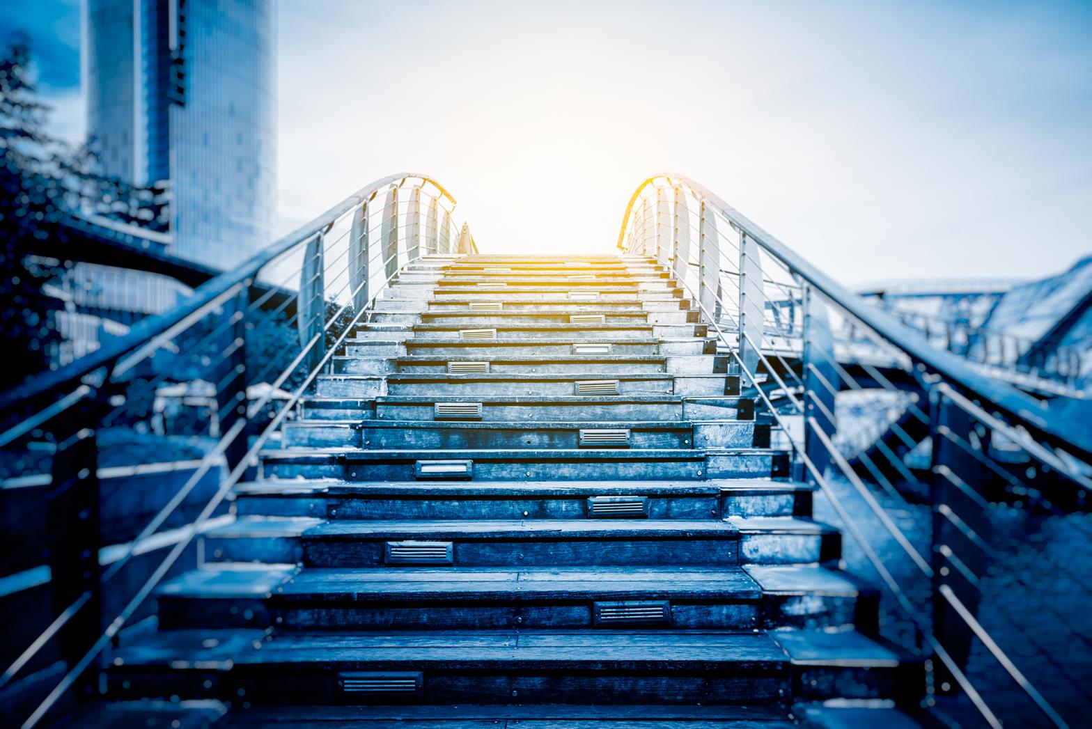 employee led mentoring stairway