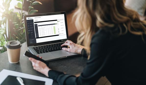 mentoring platform on laptop