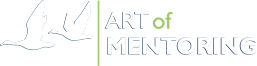Art of Mentoring corporate logo, flying geese colored version